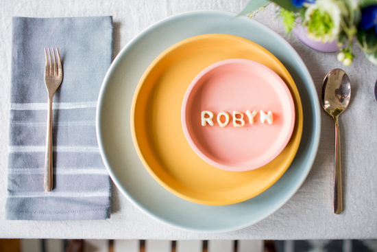 Edible Place Cards Made of Pie Crust