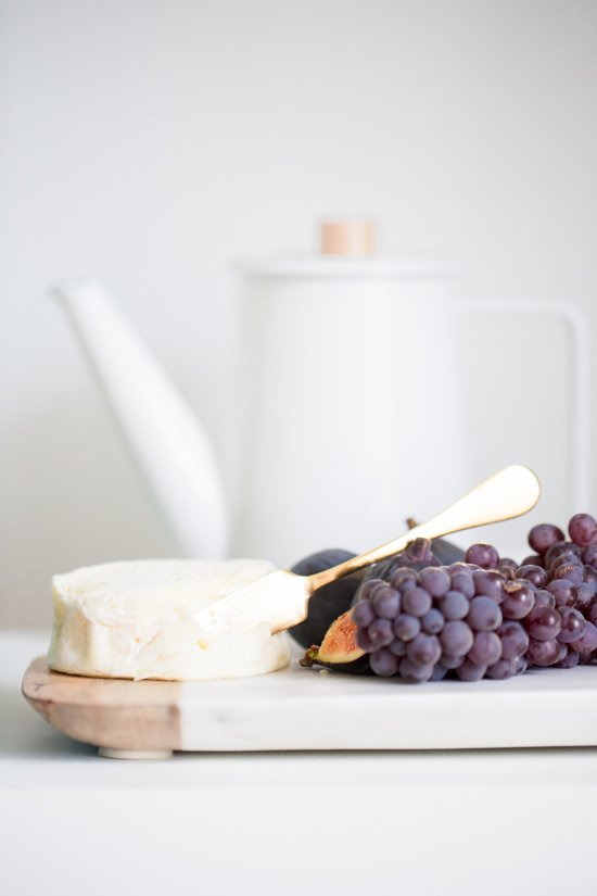 Goat Cheese + Champagne Grapes
