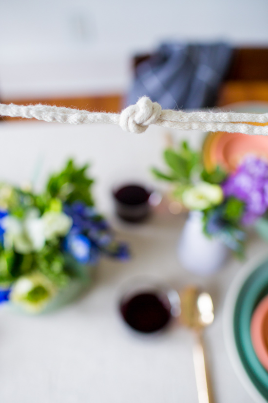 Easy DIY Knotted Rope Garland