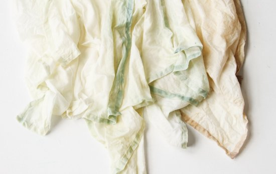 Bleached Linen Napkins DIY