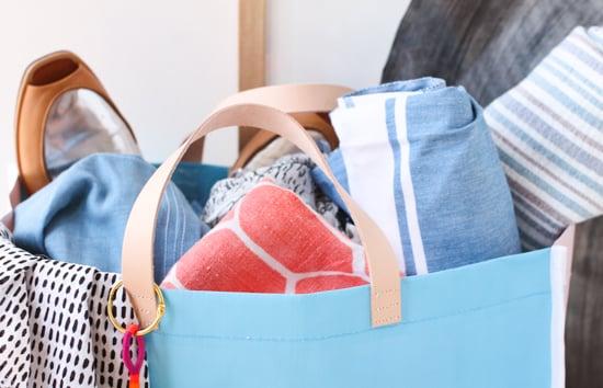 DIY Leather Handle Tote Bag