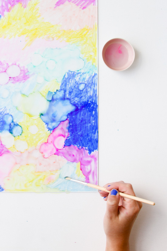 DIY Color Cloud Art in Under an Hour with Rubbing Alcohol and Markers