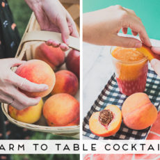 Just Peachy: A Farm to Table Cocktail Straight from My Visit to a Peach Orchard