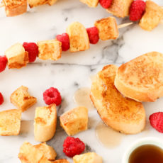 Breakfast on a Stick: French Toast Kabobs