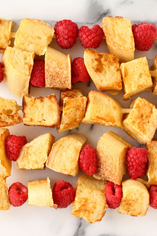 Homemade french toast kabobs recipe