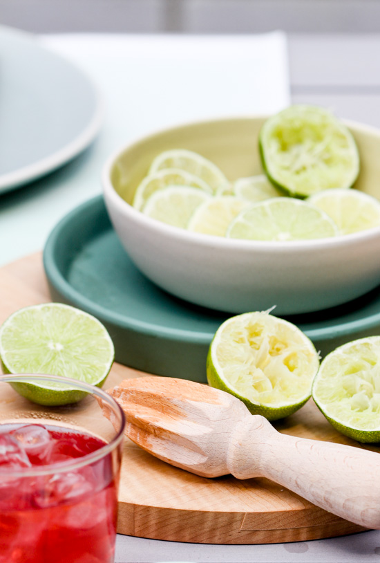 Fresh squeezed limes