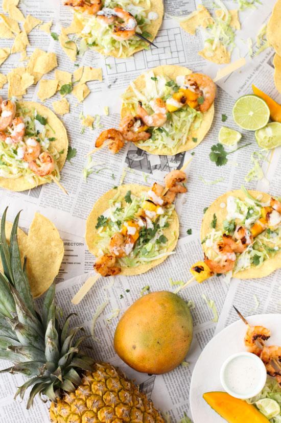 Tropical (grilled) shrimp kabobs recipe