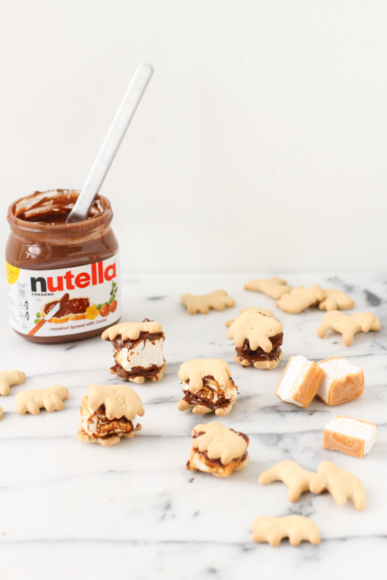 Nutella animal cracker s'mores