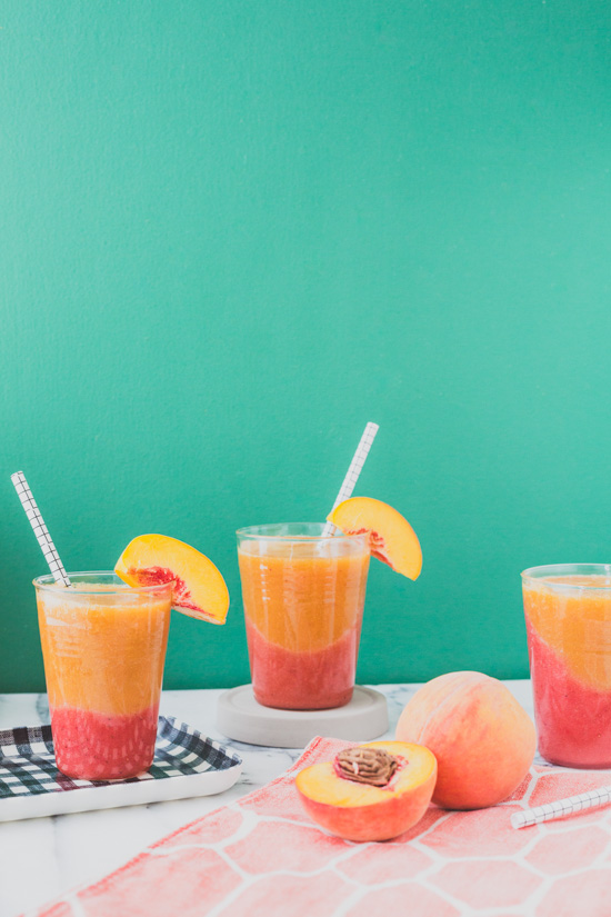 Color Blocked Cocktail: Recipe for 'Just Peachy' Frozen Sangria