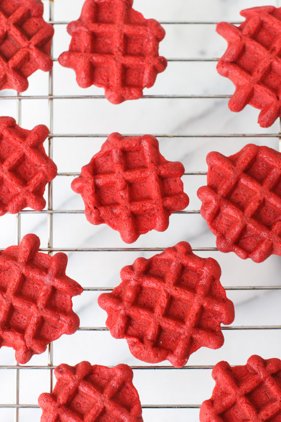 Red Velvet Mini Waffles Recipe