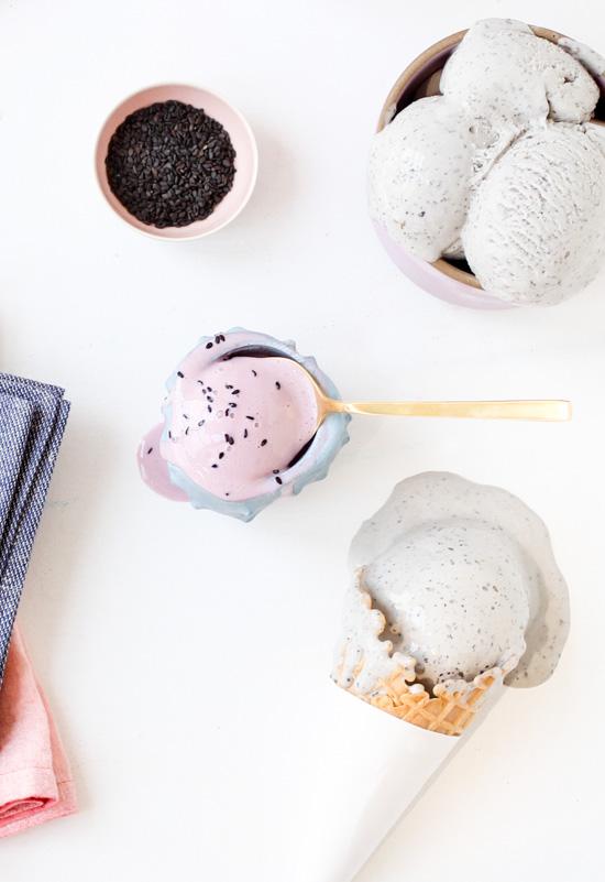 Taro and Black Sesame Ice Cream Recipe