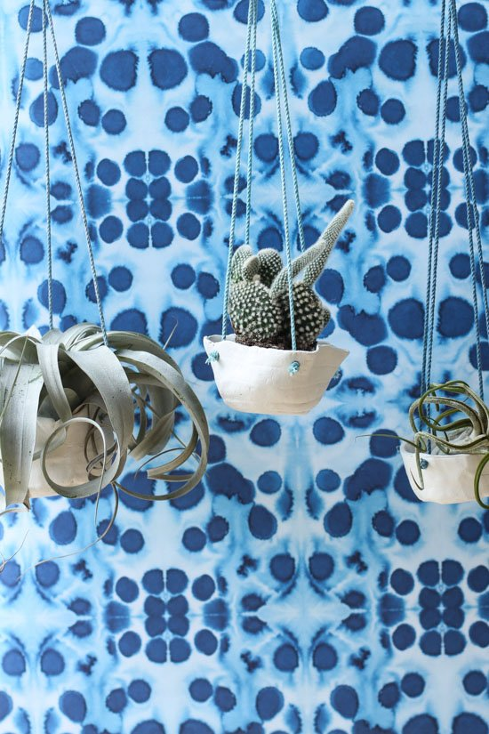 Hanging Clay Planters DIY