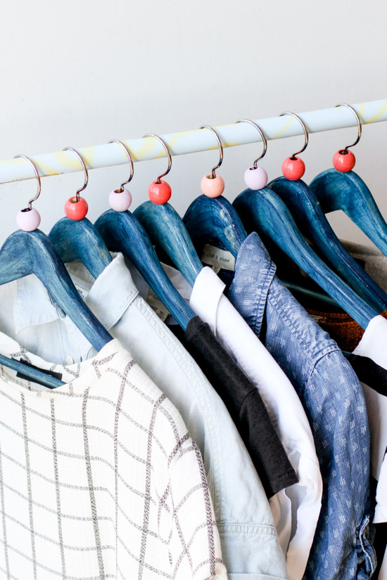 Indigo Dyed Clothing Hanger DIY