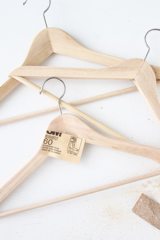 DIY // Dyed Wood Clothing Hangers