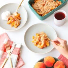 Peachy Keen: Easy (Delicious) Peach Crumble