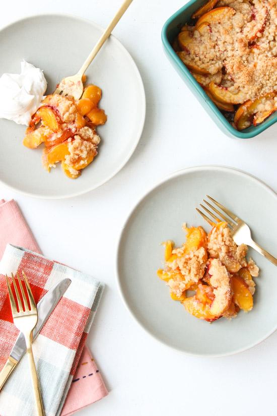 Easy Peach Crumble