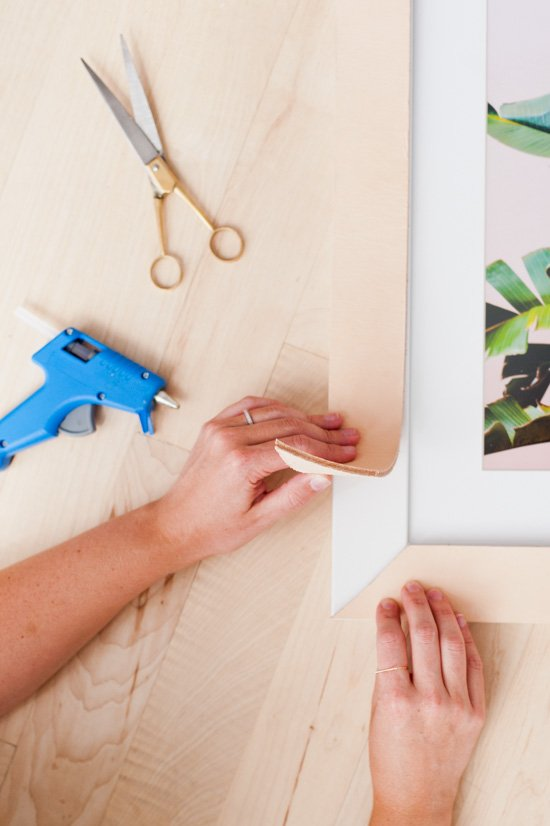DIY // How to Make Leather Picture Frames