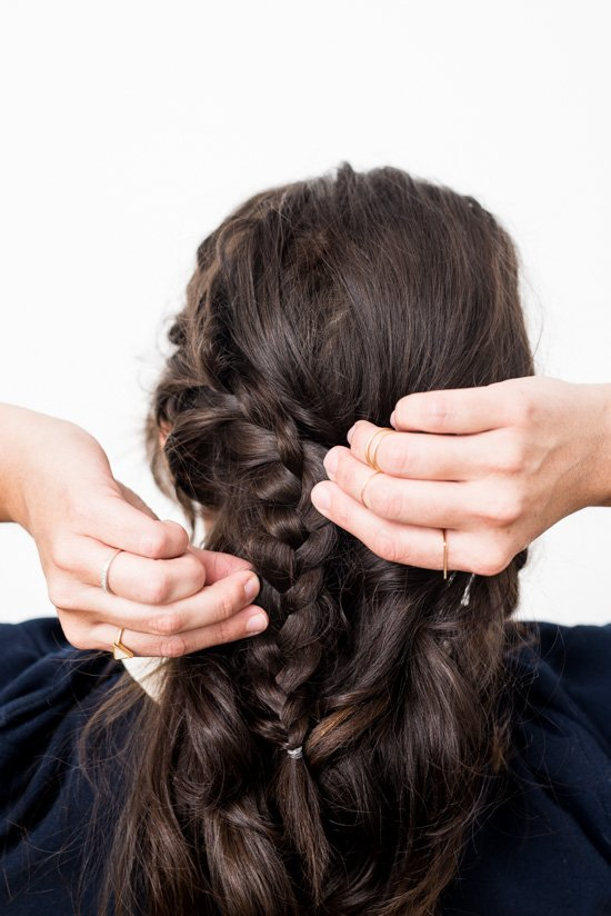 How to create a (super easy) reverse crown braid in 15 minutes or less
