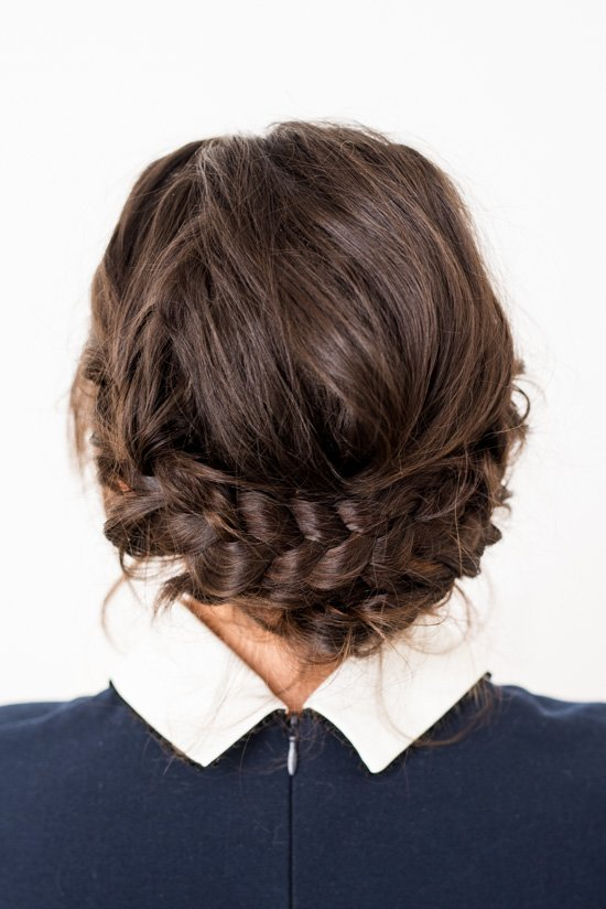 Reverse crown braid tutorial