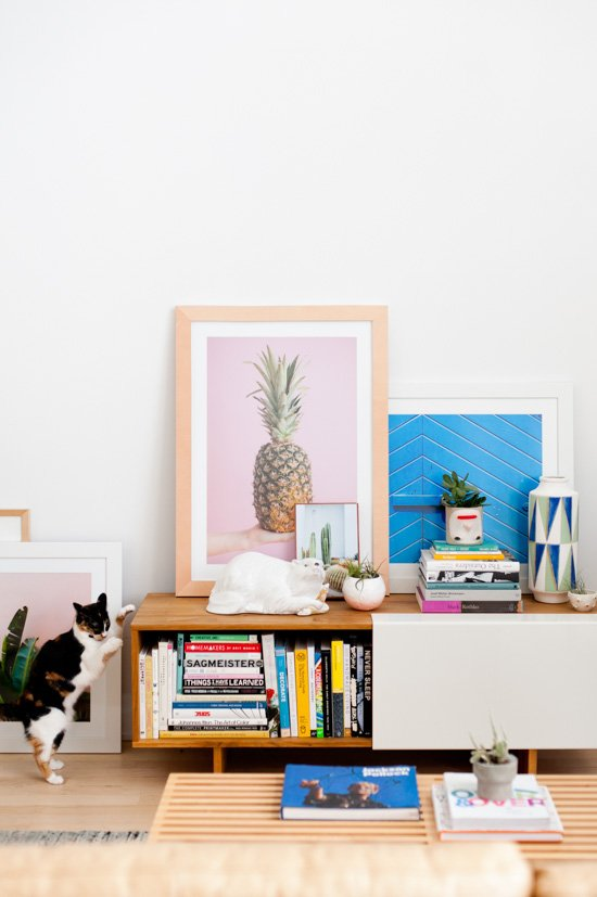 DIY Leather Framed Artwork + Living Room Reveal
