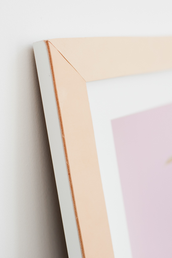 DIY // Leather Picture Frames for Artwork