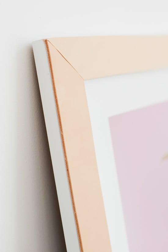 DIY // Leather Picture Frames for Artwork