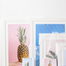 Living Room Reveal + How to Make DIY Leather Picture Frames