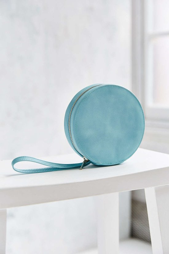 ice blue circle clutch