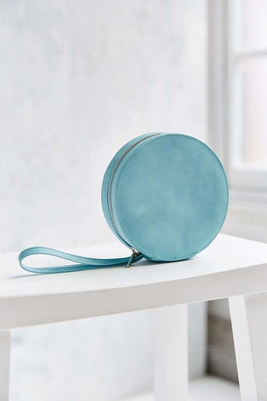 ice blue circle clutch