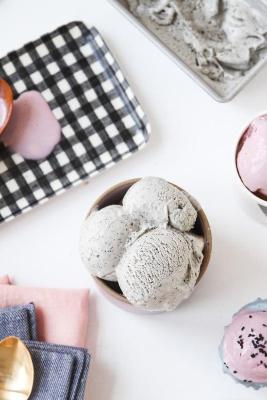 Unique Ice Cream Flavors // Taro and Black Sesame Ice Cream Recipe