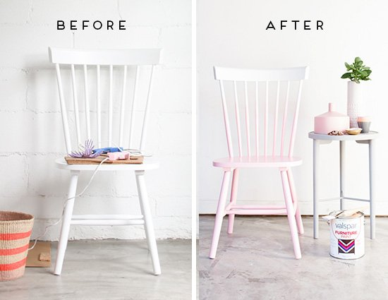 Before and After: DIY Pink Ombre Chair Makeover