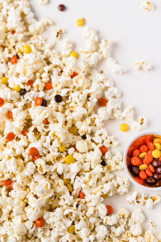 Popcorn + Reese's Pieces