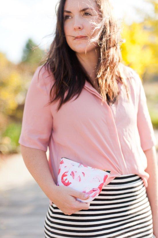 How to make a canvas print clutch using your own artwork