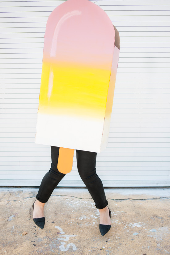 24 Awesome DIY Halloween Costumes to Try This Year // DIY Cardboard Popsicle Costume