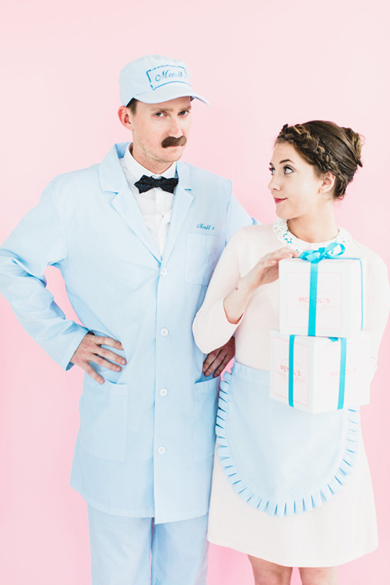 24 Awesome DIY Halloween Costumes to Try This Year // DIY Grand Budapest Hotel Couples Costume