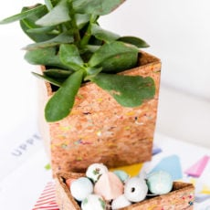 Put a Cork In It: How to Make a Geometric DIY Office Organizer with Cork