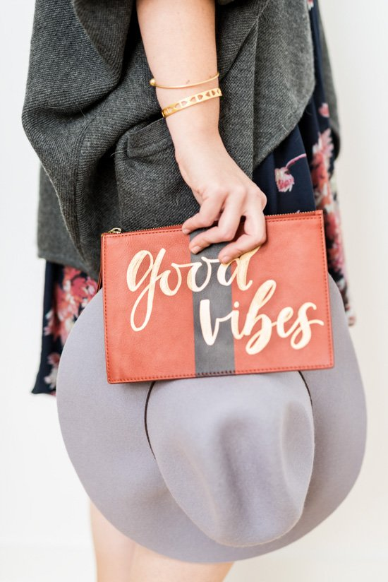 Good Vibes: how to add instant character to a basic clutch in 5 minutes