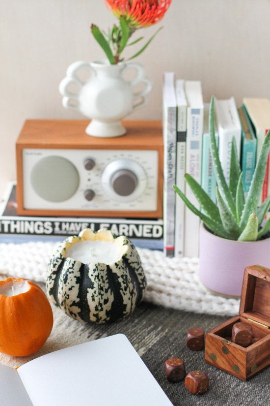 Pumpkin Candles DIY