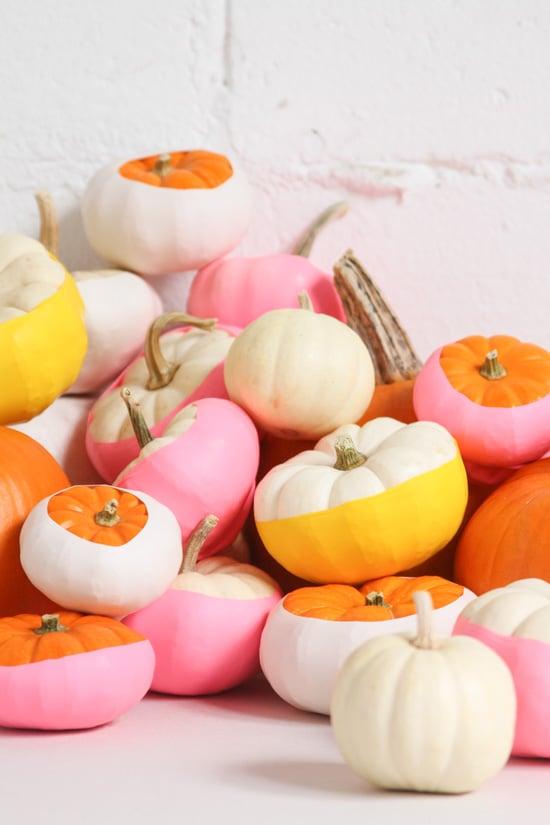 Easiest No-Carve Pumpkin Idea: Balloon Dipped Pumpkins DIY