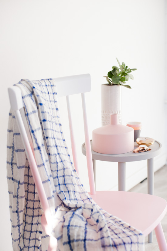 Pink Ombre Chair Makeover DIY