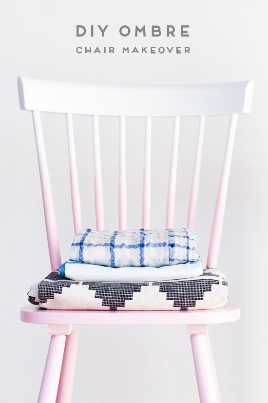 DIY ombre chair makeover with just two supplies (in under an hour)