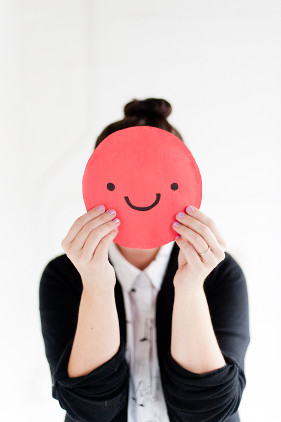 Two Dots Smiley Face Clutch