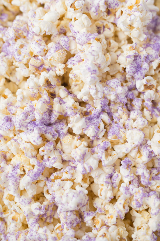 White Chocolate Popcorn with Sprinkles
