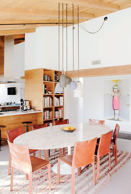 Mismatched pendant lights