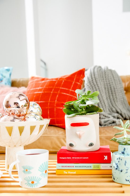 Getting ready for the holidays at home with DIY pillows + cozy textiles.