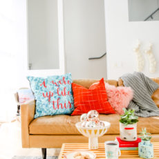 Ho Ho Home: Getting Ready for the Holidays at Home with DIY Pillows + Cozy Textiles