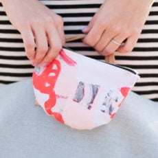In the Clutch: How to Sew a Canvas Print Clutch Using your Own Artwork