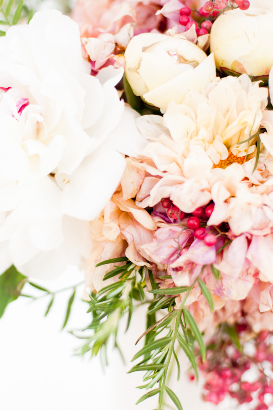 Peonies and Dahlias for Holiday Bouquets