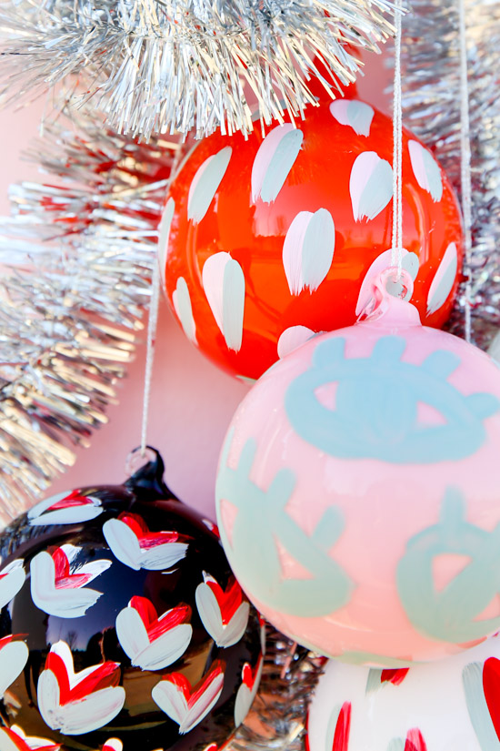 Painted Pattern DIY Holiday Ornaments