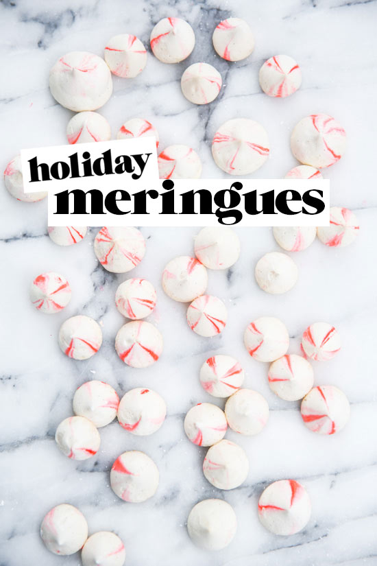 Blood orange vanilla bean meringues recipe for the holidays